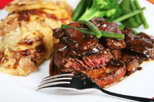 Gratin with Steak