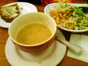 January: soup and salad and that.