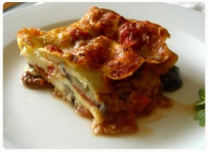 Aubergine Lasagne, cooked in 20 minutes