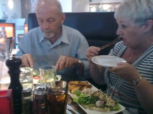 Mum and dad joined me and my sister for a family lunch at Gotham South