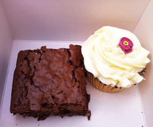 Brownie and Cupcake from the Cake Cafe