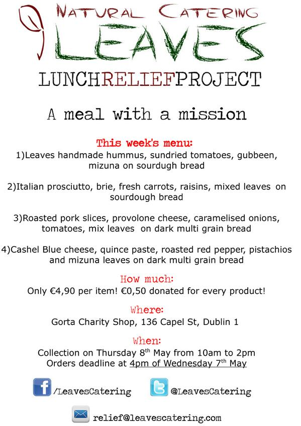 new dublin lunch service: the lunch relief project